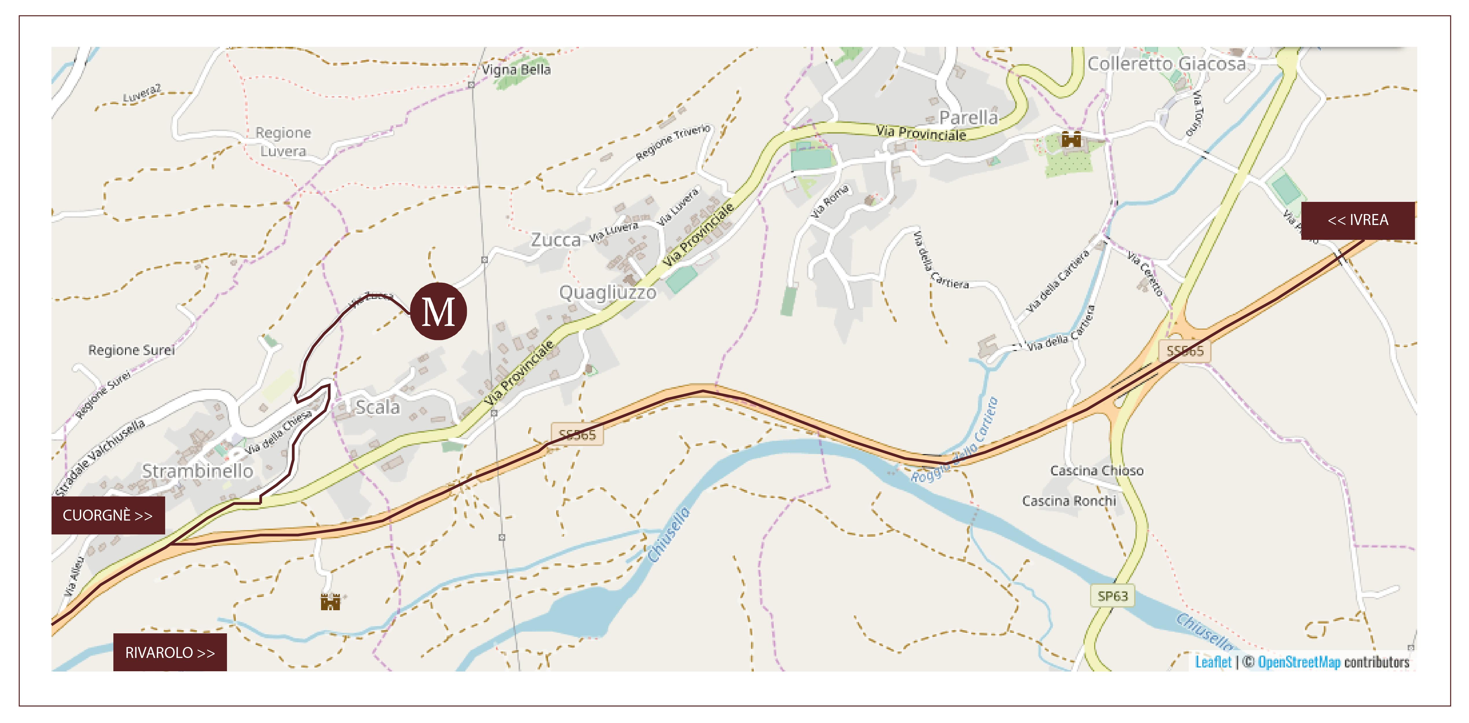 mappa OSM Cascina Montiglio
